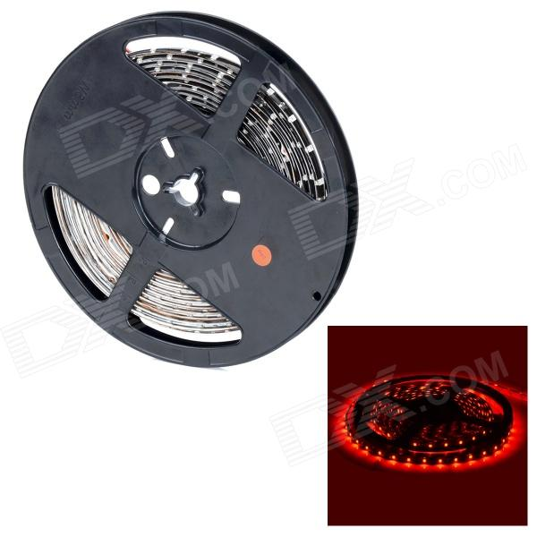 HML FPC Waterproof 24W 650nm 300-3528 SMD LED Red Light Car Decoration Light Strip (12V / 5m) hml b28 water resistant 36w 1600lm 670nm 300 smd 3528 led red light strip black dc 12v 5m