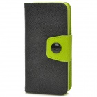 Buy Fashion PU Leather Flip-Open Case Button Iphone 5C - Black + Green
