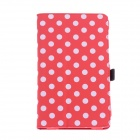 Protective PU Leather Case Cover Stand w/ Auto-Sleep for Google Nexus 7 II - Red + White