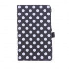Protective PU leather Case Cover Stand w/ Auto-Sleep for Google Nexus 7 II - Black + White