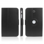 ENKAY ENK-7034 360' Rotation Protective Case Stand for Samsung Tab 3 7.0 T210 / T211 / P3200 - Black