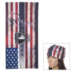 Free Soldier 1564 Outdoor Sports Eagle Pattern Magic Head Scarf - Black + Red + Blue