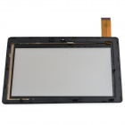 Replacement Front Shell + Screen for Allwinner A13 Q88 / Witcool X5 - Black + Transparent