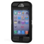 Protective Silicone Back Case + Screen Touch Protector for iPhoen 5c - Black