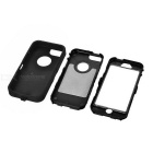 Protective Silicone Back Case + Screen Touch Protector for IPHONE 5C - Black