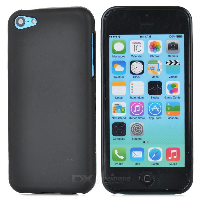Protective Soft TPU Back Case for Iphone 5C - Black