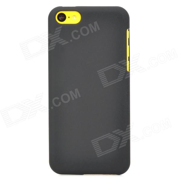 Protective Matte Plastic Back Case for Iphone 5C - Black top lcd iphone 5c