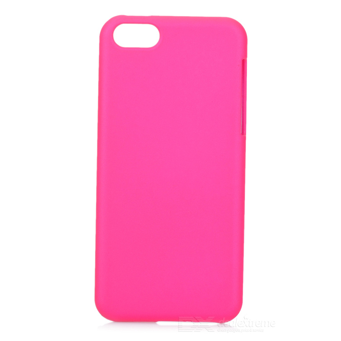 Protective Hard PC Back Case for Iphone 5C - Deep Pink luck case 04 stylish protective silicone back case for iphone 5c deep pink