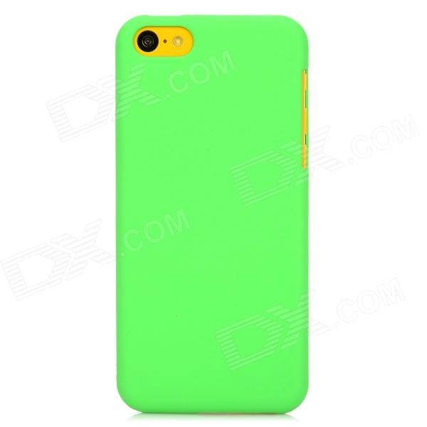Protectiv Matte Plastic Back Case for Iphone 5C - Green top lcd iphone 5c