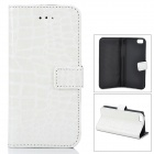 Fashion Alligator Pattern PU Leather Case for Iphone 5C - White