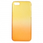 Water Drops Pattern Protective PC Back Case for Iphone 5C - Translucent Yellow + Translucent Orange