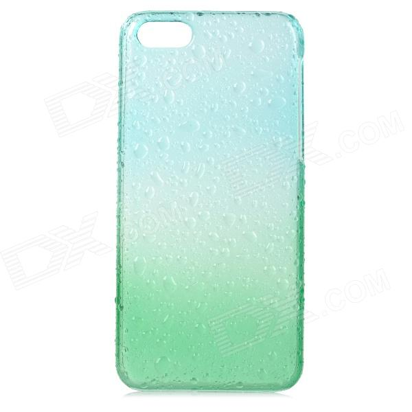 Water Drops Pattern Protective PC Back Case for Iphone 5C - Translucent Green + Translucent Blue water drops pattern protective pc back case for iphone 5c translucent green translucent blue