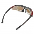 OBAOLAY Outdoor Sports Polarized Goggles w/ Replacement Lenses - Black + Red