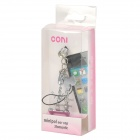 40015 3.5mm Anti-Polvo Plug w / Little Gog + Hueso Estilo Piedras Cadena para Iphone 4 / 4S - Plateado