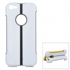 Protective ABS + Silicone Back Case w/ Stand for Iphone 5C - Black + White