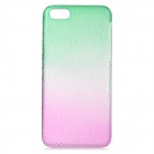 Water Drop Style Protective Plastic Case for Iphone 5C - Translucent Green + Translucent Green