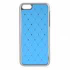 Fashion Crystal Plastic Back Case for Iphone 5C - Blue + Silver