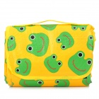 Outdoor Folding Cute Frog Pattern Baby Crawl Play Thickened Mat Pad - Green + Yellow