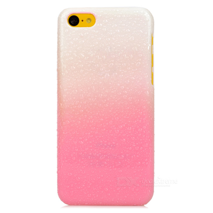 Protective Water Drop  PC Back Case for Iphone 5C - White + Pink ipega i5056 waterproof protective case for iphone 5 5s 5c pink