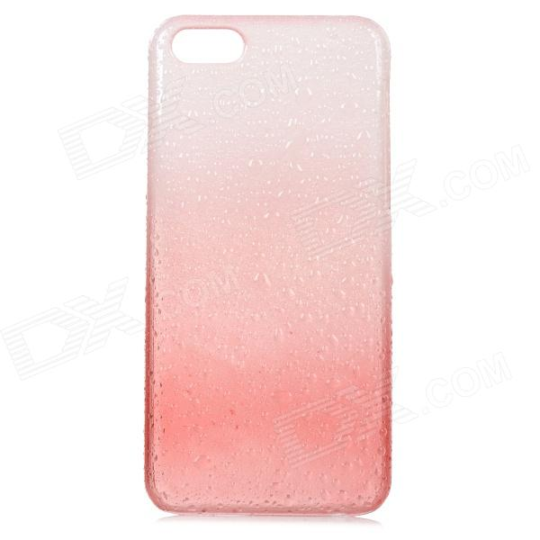 Water Drop Style Protective Plastic Case for Iphone 5C - Translucent White + Translucent Red water drops style protective plastic back case for iphone 4 blue