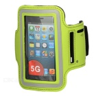 Gym Sports Neoprene Armband Case + estiramento algodão para Iphone 5 / 5s - Verde