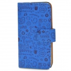 890 Protective Cartoon Style PU Leather Case for ZOPO C2 / ZP980 - Blue
