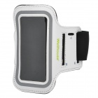 Wellhouse WH-00602 Sports Gym PU + Neoprene Armband Case for Iphone 5 - White + Black