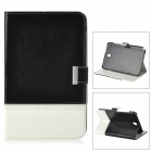 Stylish Protective PU Leather Case for Samsung Galaxy Note 8 N5100 - Black + White