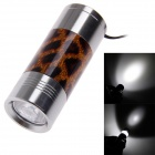 Leopard Print Mini Extension-Type 60lm LED 1-Mode White Flashlight - Brown + Silver (2 x CR2032)