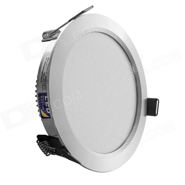 HUGEWIN HTD689 12w 650lm 3500k Warm White 5730 SMD Recessed LED Down Light Lamp - Silver lexing lx r7s 2 5w 410lm 7000k 12 5730 smd white light project lamp beige silver ac 85 265v