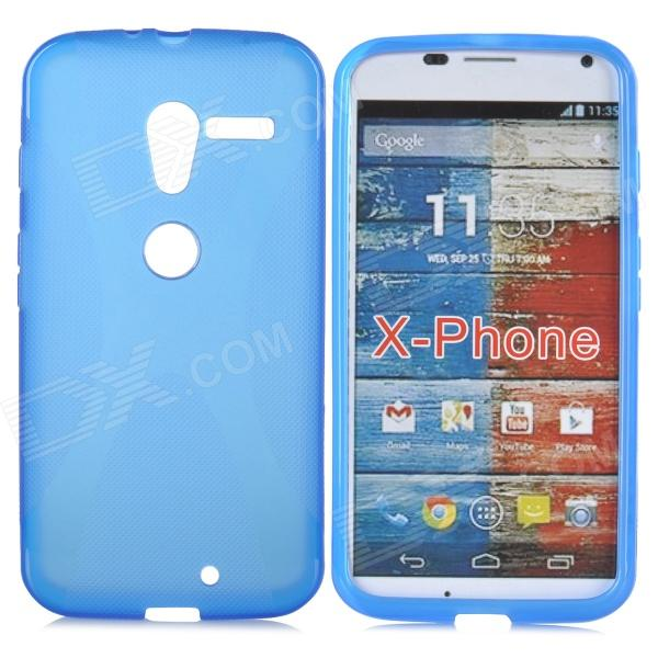 Anti-slip Protective TPU Back Case for Motorola X Phone - Blue