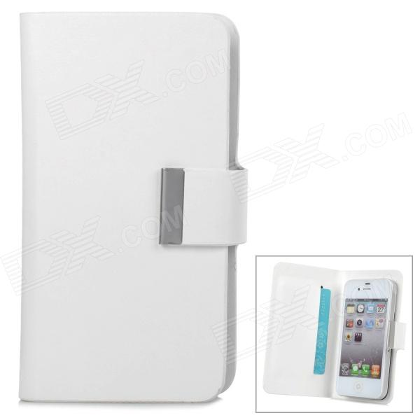 Universal Protective PU Leather Case w/ Window for Cellphones - White - DXLeather Cases<br>Brand N/A Quantity 1 Piece Color White Material PU leather Compatible Models Universal Other Features With window design and small suction cups; Convenient to use; Suitable for cellphones that smaller than 13 x 7cm; Protects your device from scratches shock and dust Packing List 1 x Case<br>