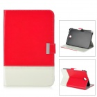 Stylish Protective PU Leather Case for Samsung Galaxy Note 8 N5100 - Red + White