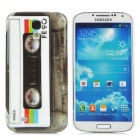 Protective Cassette Style Plastic Back Case for Samsung Galaxy S4 i9500 - Black + White