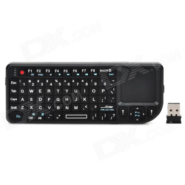 RT-MWK02 Mini Wireless 72-Key Keyboard Mouse w/ Laser Light for Laptops / TV + More - Black