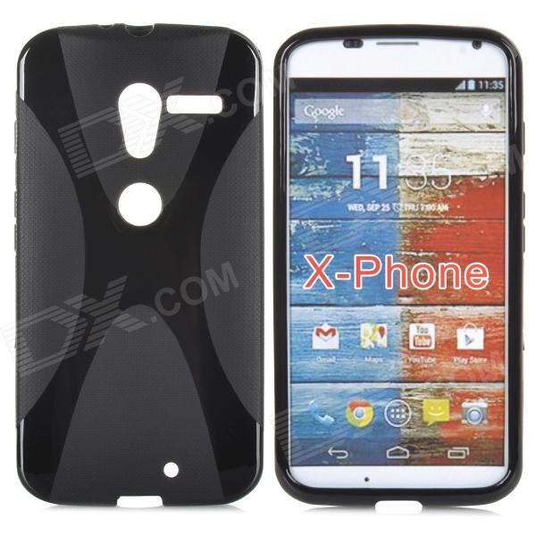 Anti-slip Protective TPU Back Case for Motorola X Phone - Black