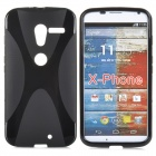 Buy Anti-slip Protective TPU Back Case Motorola X Phone - Black