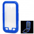 WP-04 Stylish Waterproof Diving Case for Samsung Galaxy S4 i9500 - Dark Blue + Transparent