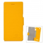 NILLKIN  Fresh Series Protective PU Leather + PC Case for Sony Xperia M - Yellow
