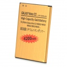 "Replacement ""4200mAh"" 3.8V Li-ion Battery for Samsung Galaxy Note III - Golden"