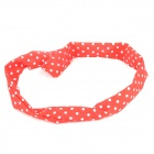 FS090103 Stylish Polka Dot Pattern Hair Band Strap - Red + White