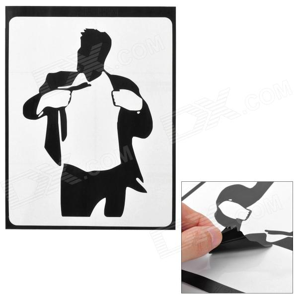 Stylish Suit Man Pattern Sticker for Apple Macbook 11 / 13 / 15 / 17 - Black