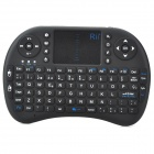 Rii i8 Spanish Mini Wireless Mouse Keyboard Combo + Touch Pad  for Smart Android OS TV - Black
