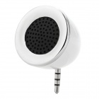 3.5mm Audio Jack Mini Speaker - White + Silve + Black