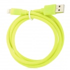 USB Male to 8 Pin Knit Charging Data Cable for iPhone 5 + iPad Mini - Fluorescent Green (100 CM)