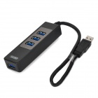 Unitek Y-3046 1-to-4 High Speed 4-port USB3.0 Hub w/ USB Cable for PC - Black