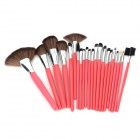 Professionelle 22-in-1 Kosmetik Make-up Pinsel Set - Watermelon Red
