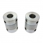 Heacent CL001 DIY 3D Printer RepRap Couplings with Screws - Silver (2 PCS / Aperture: 5 x 8mm)