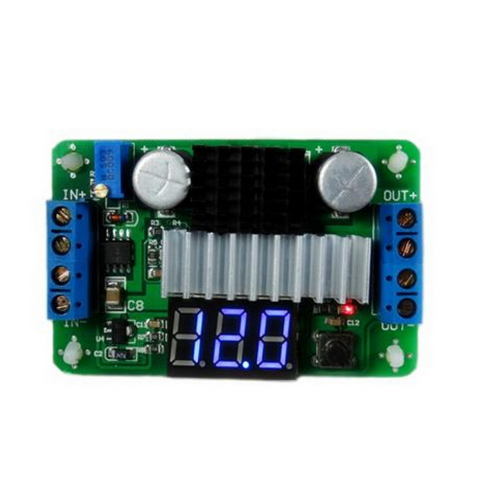 "0,36"" LED 3-Digital DC to DC 100W High Power Boost Power Module Voltímetro - Verde (3.5 ~ 30V)"