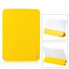REMAX QC5200BL Protective PU Leather + PC Case for Samsung Galaxy Tab 3 10.1 P5200 - Yellow